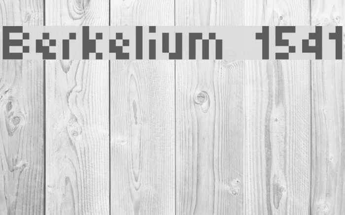 Berkelium 1541 Fuentes examples