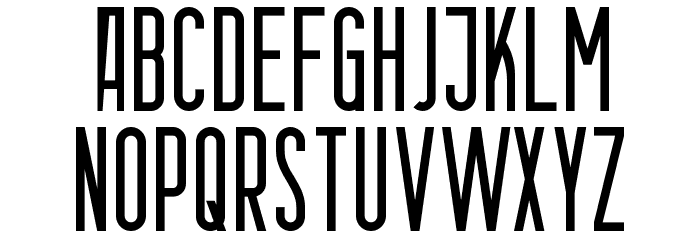 Berlin Email Font UPPERCASE