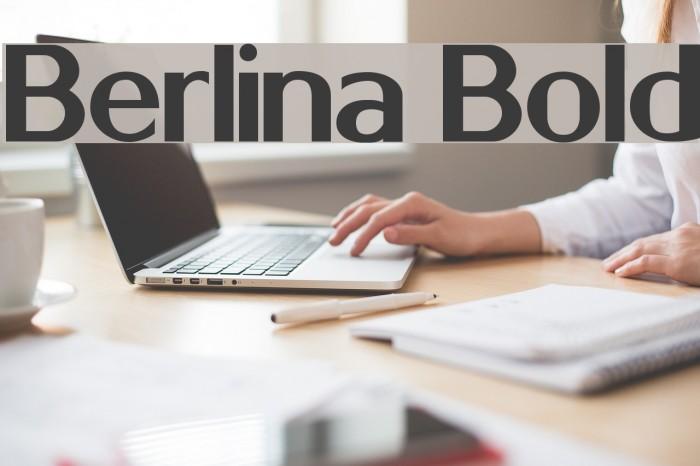 Berlina Bold Font examples