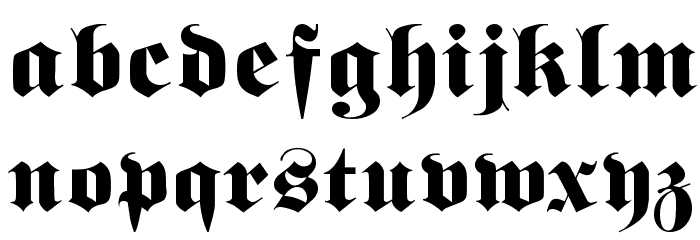 Berliner Font LOWERCASE