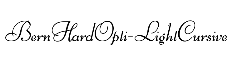 BernHardOpti-LightCursive  Free Fonts Download