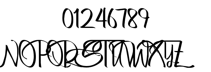 Bertha Regular Font OTHER CHARS