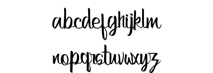 Bertha-Regular Font LOWERCASE