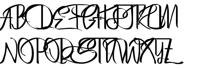 Bertha Regular Font UPPERCASE