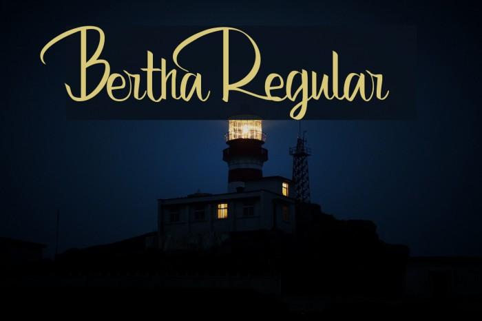 Bertha Regular Font examples