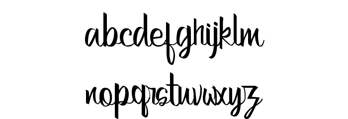 Bertha Regular Font LOWERCASE