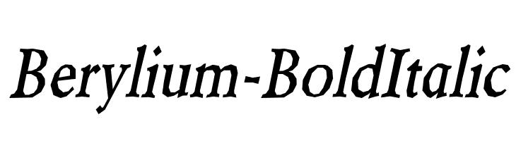 Berylium-BoldItalic  baixar fontes gratis