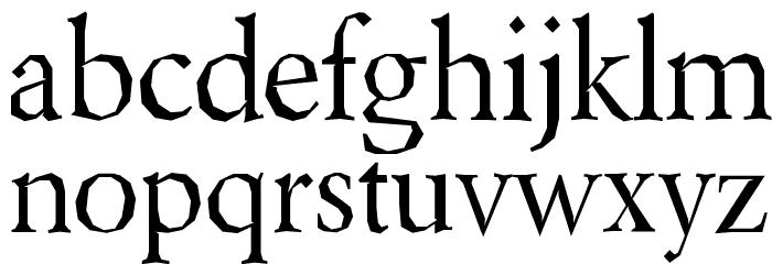 Berylium Font LOWERCASE