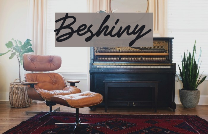 Beshiny Font examples