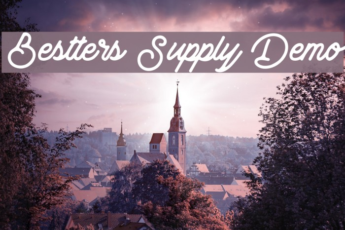 Bestters Supply Demo Font examples