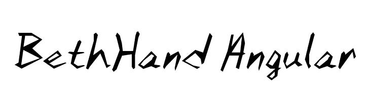 BethHand Angular  لخطوط تنزيل