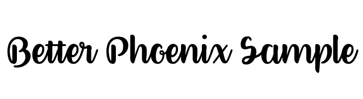 Better Phoenix Sample  لخطوط تنزيل