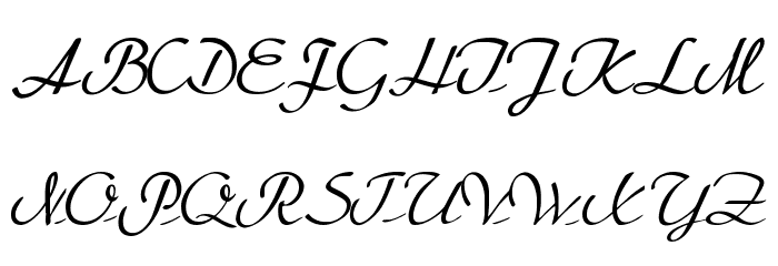BetterHeatherRegular Font UPPERCASE