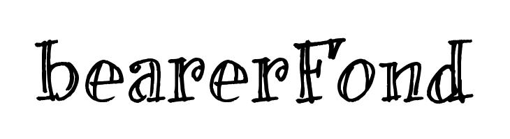 bearerFond  Скачать бесплатные шрифты