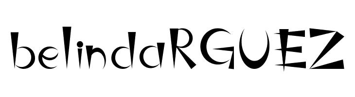 belindaRGUEZ  Free Fonts Download