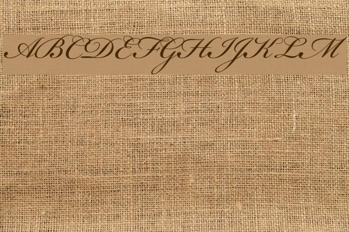 Bickham Script MM Font examples
