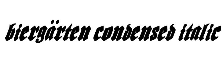 Bierg�rten Condensed Italic  Free Fonts Download
