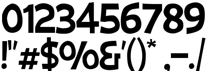 Big Bimbo NC Font OTHER CHARS