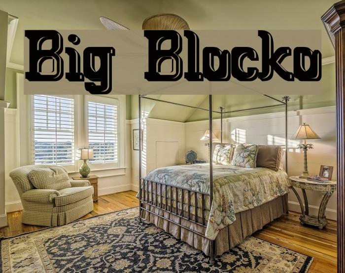 Big Blocko फ़ॉन्ट examples