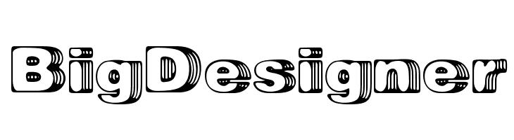 Big Designer  नि: शुल्क फ़ॉन्ट्स डाउनलोड