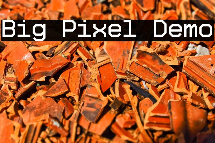 Big Pixel Demo Font examples