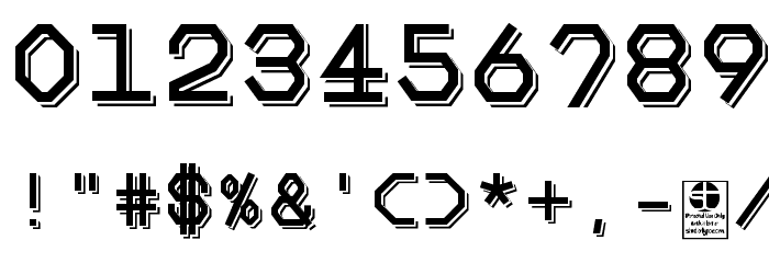 Big Pixel Shadowed Demo Font OTHER CHARS