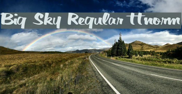 Big Sky Regular ttnorm फ़ॉन्ट examples
