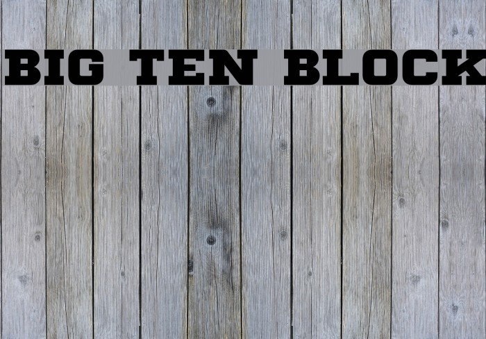 Big Ten Block Шрифта examples