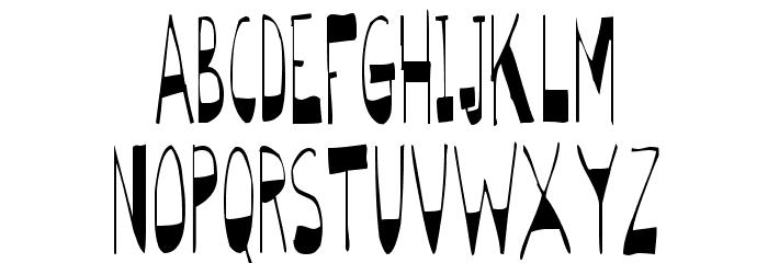 BigBottomTall Skinny Font UPPERCASE