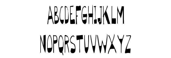 BigBottomTall Skinny Font LOWERCASE