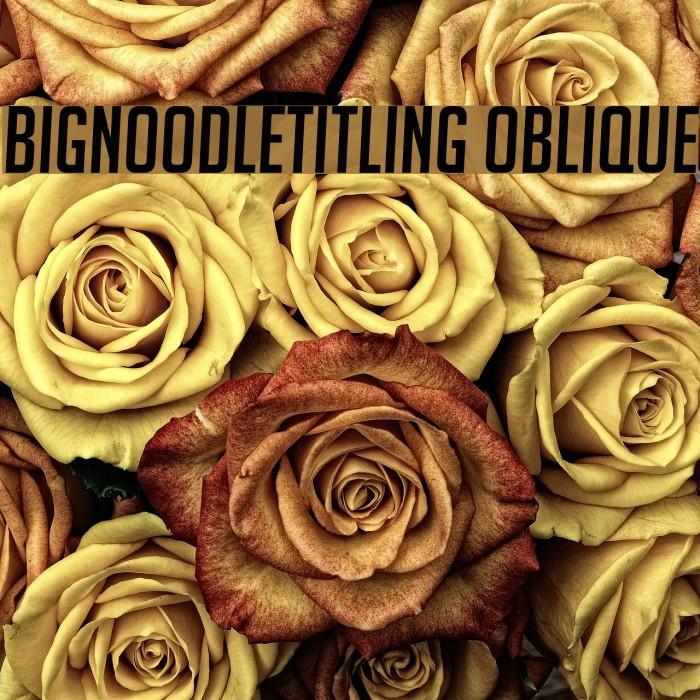 BigNoodleTitling Oblique Font examples