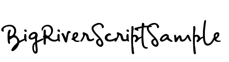 BigRiverScriptSample  Free Fonts Download