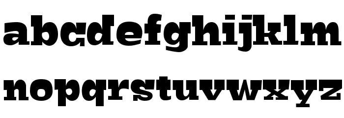 Bigfish Black Font LOWERCASE