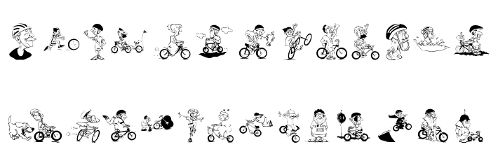 Bikers Font UPPERCASE