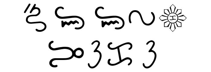 Bikol Mintz Font UPPERCASE