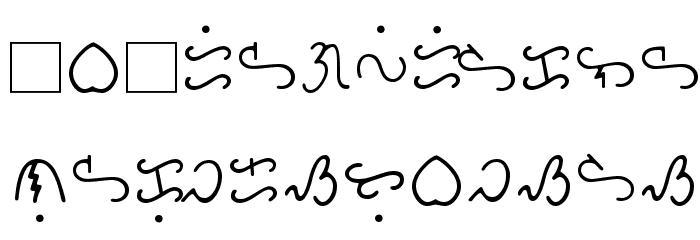 Bikol Mintz Font LOWERCASE