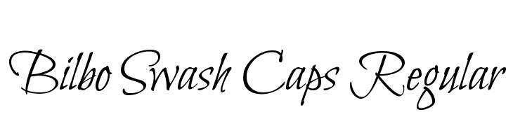 Bilbo Swash Caps Regular  Free Fonts Download