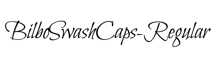 BilboSwashCaps-Regular  Descarca Fonturi Gratis