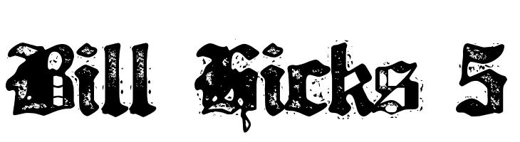 Bill Hicks 5  Free Fonts Download