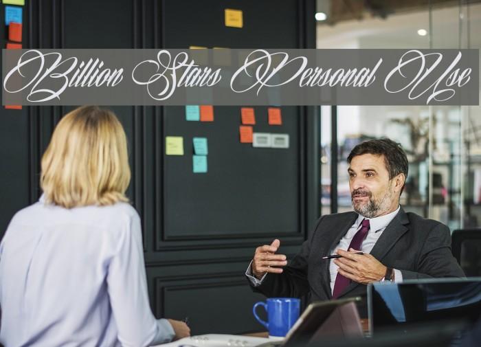 Billion Stars Personal Use  Шрифта examples