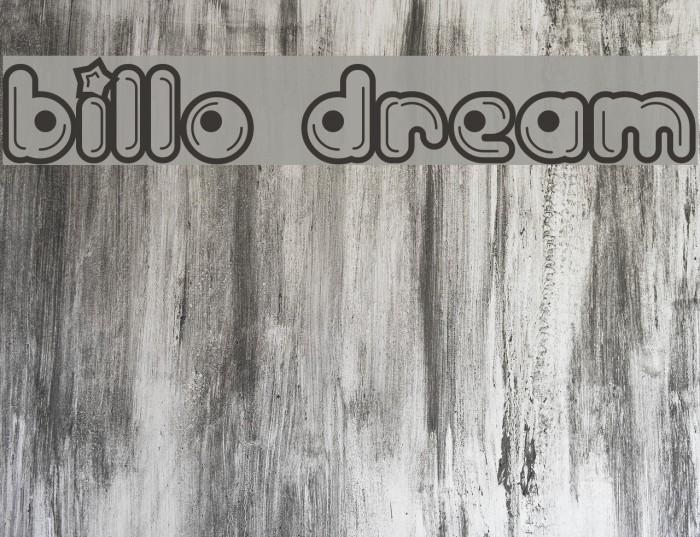 Billo Dream Font examples