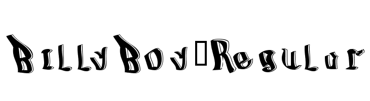 BillyBoy-Regular  لخطوط تنزيل