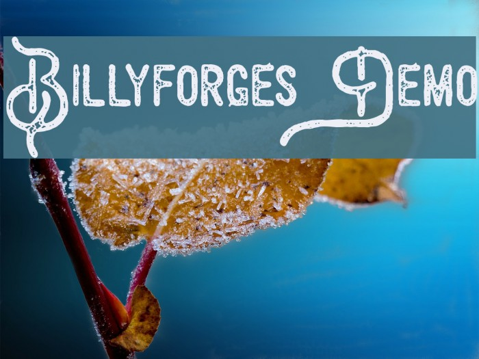 Billyforges Demo फ़ॉन्ट examples