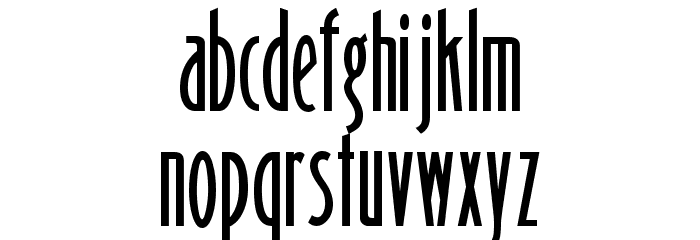 Binner Gothic Font LOWERCASE