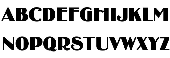 BinnerD Font UPPERCASE