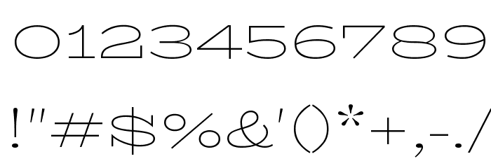 BioRhyme Expanded ExtraLight Font OTHER CHARS