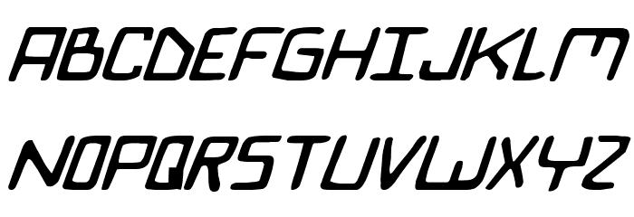 Bionic Comic Italic Font UPPERCASE