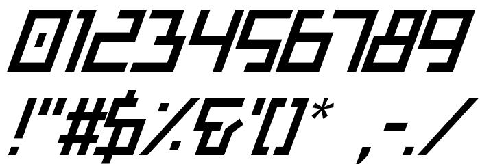 Bionic Type Italic Шрифта ДРУГИЕ символов