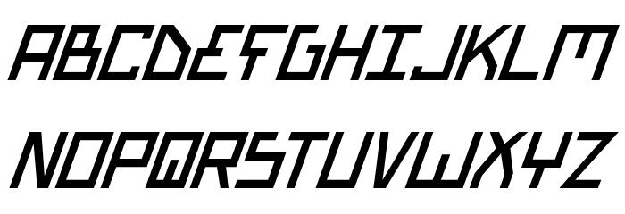 Bionic Type Italic Font UPPERCASE