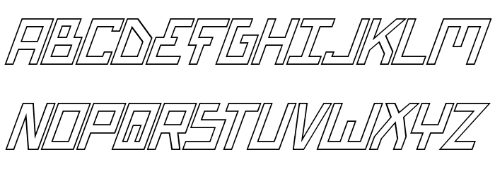 Bionic Type Out Italic Font UPPERCASE